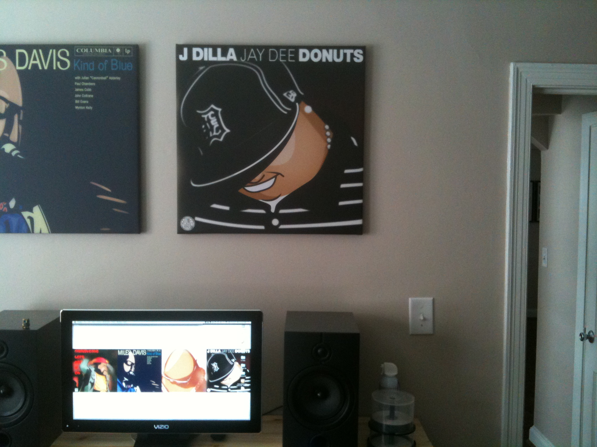 Dilla Donuts Dilla Donuts Album Art on Wall